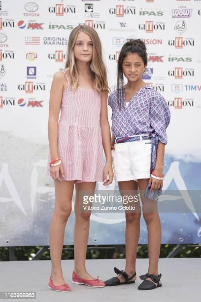 Elisa Del Genio and Ludovica Nasti attend Giffoni Film Festival 2019 on July 24 2019 in Giffoni Valle Piana Italy