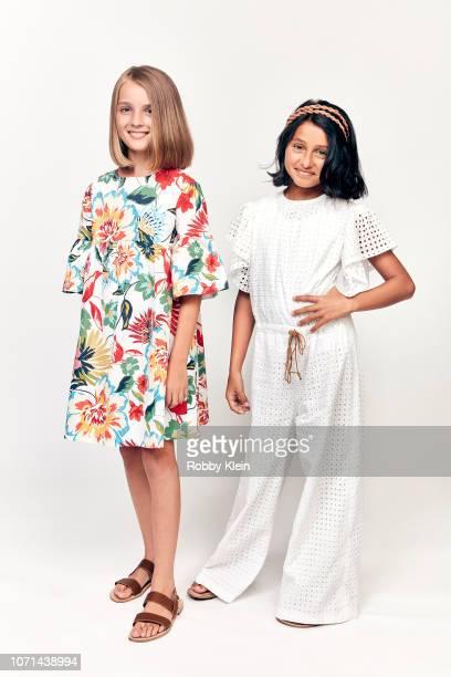 Elisa del Genio and Ludovica Nasti of HBO's 'My Brilliant Friend' pose for a portrait during the 2018 Summer Television Critics Association Press...