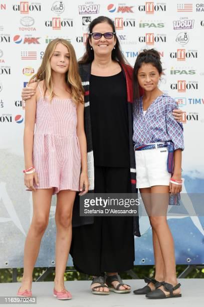 Elisa Del Genio Eleonora Andreatta and Ludovica Nasti attend Giffoni Film Festival 2019 on July 24 2019 in Giffoni Valle Piana Italy