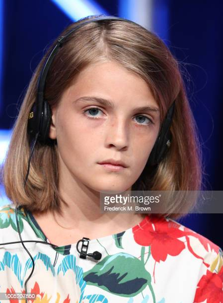 Elisa Del Genio of 'My Brilliant Friend' speaks onstage during the HBO portion of the Summer 2018 TCA Press Tour at The Beverly Hilton Hotelon July...