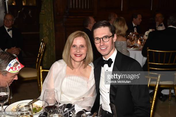 Elisa Fredrickson and Andrew Nodell attend French Heritage Society's New York Gala The Black White Ball at Private Club on November 21 2019 in New...