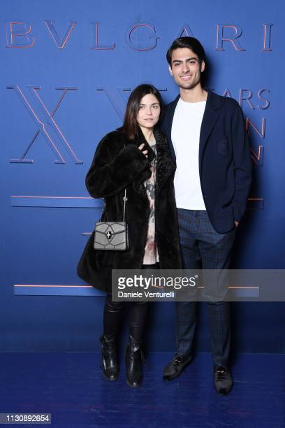 Elisa Fuksas and Matteo Bocelli attend the Bvlgari BZERO1 XX Anniversary Global Launch Event at Auditorium Parco Della Musica on February 19 2019 in...