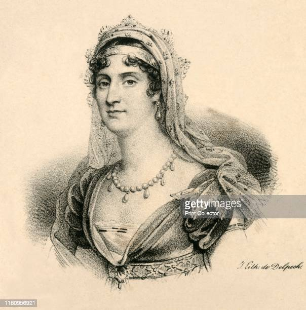 Elisa. Grande-Duchesse de Toscanne', , circa 1830. Elisa Bonaparte Italian princess and Grand Duchess of Tuscany by appointment of her brother...