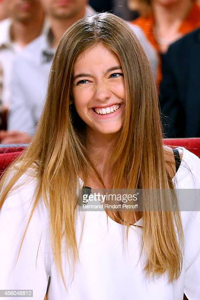 Elisa holdest daughter of Cristana Reali and Francis Huster attends the 'Vivement Dimanche' French TV Show at Pavillon Gabriel on September 24 2014...