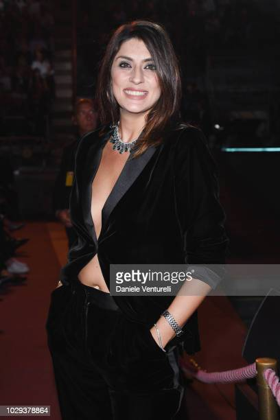 Elisa Isoardi attends Celebrity Fight Night at Arena di Verona on September 8 2018 in Verona Italy