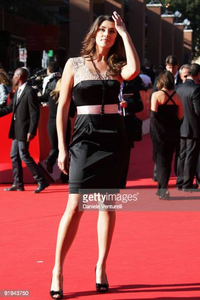 Elisa Isoardi attends the FAO Ambassadors Premiere during day 2 of the 4th Rome International Film Festival held at the Auditorium Parco della Musica...