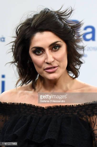 Elisa Isoardi attends the Rai Show Schedule presentation on July 09 2019 in Milan Italy