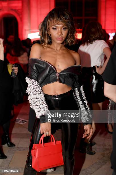 Elisa Johnson attends the After Party for the Philipp Plein Fall/Winter 2017/2018 Women's And Men's Fashion Show at The New York Public Library on...