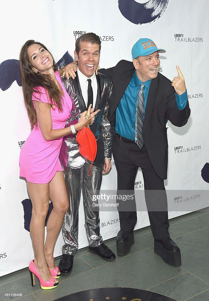 Elisa Jordana Perez Hilton And Benjy Bronk Of The Howard Stern Show News Photo Getty Images