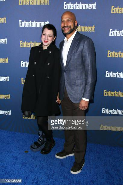 Elisa Key and KeeganMichael Key attend Entertainment Weekly PreSAG Celebration at Chateau Marmont on January 18 2020 in Los Angeles California