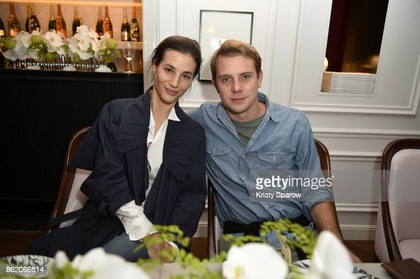 Elisa Lasowski and Jonathan Anderson attend the Surface Magazine Fall Fashion Issue 2017 Presentation on October 16 2017 in Paris France