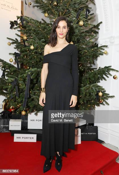 Elisa Lasowski attends a party hosted by NETAPORTER and MR PORTER to celebrate the festive season in style at One Horse Guards on November 30 2017 in...