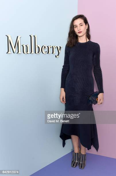 Elisa Lasowski attends the Mulberry Winter '17 LFW show at The Old Billingsgate on February 19 2017 in London England