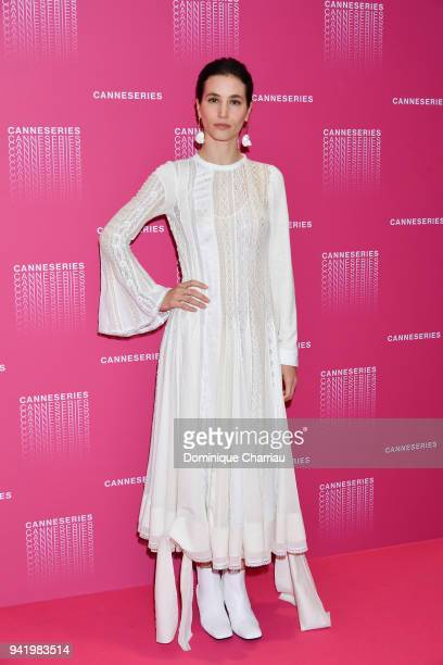 Elisa Lasowski from the Versailles tv show premiere attends opening ceremony of the 1st Cannes Series Festival on April 4 2018 in Cannes France
