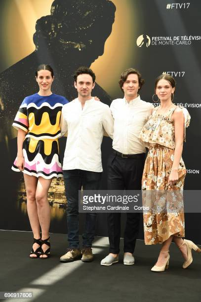 Elisa Lasowski George Blagden Alexander Vlahos and Anna Brewster from TV Show 'Versailles' pose for a Photocall during the 57th Monte Carlo TV...
