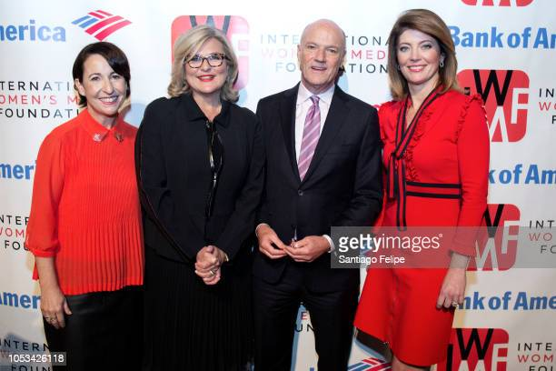 Elisa Lees Munos Cynthia McFadden Phil Griffin and Norah O' Donnell attend the 2018 International Women's Media Foundation's Courage In Journalism...