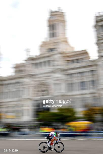 Elisa Longo Borghini of Italy and Trek- Segafredo / Madrid Town Hall / Plaza Cibeles / Madrid City / Landscape / during the 6th Ceratizit Challenge...