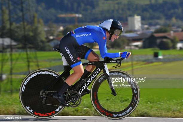Elisa Longo Borghini of Italy / during the Women Elite Individual Time Trial a 278km race from Wattens to Innsbruck 582m at the 91st UCI Road World...