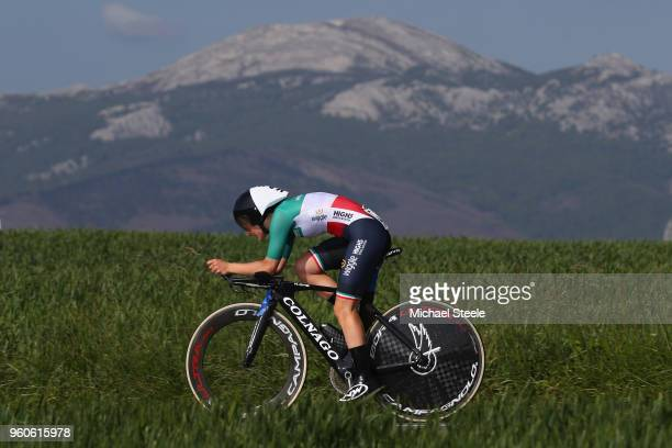 Elisa Longo of Italy and Team Wiggle High5 during the 31st Women WT EmakumeenBira Stage 2 266km Individual Time Trial from Agurain to Gastetz on May...