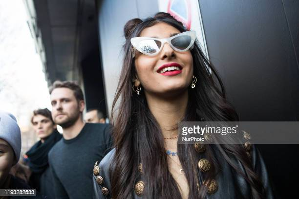 Elisa Maino arrivals at Dolce e Gabbana fashion show during the Milan Fashion Week 2020 in Milan Italy on January 11 2020