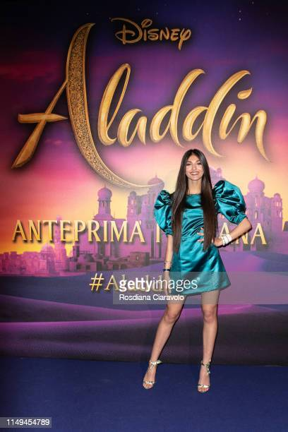 Elisa Maino attends the Aladdin photocall and red carpet at The Space Cinema Odeon on May 15, 2019 in Milan, Italy.