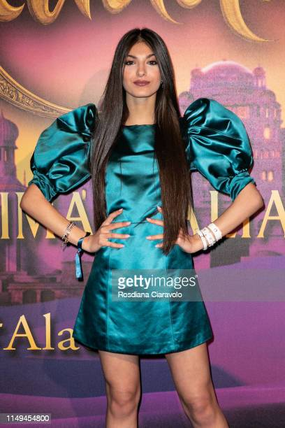 Elisa Maino attends the Aladdin photocall and red carpet at The Space Cinema Odeon on May 15 2019 in Milan Italy