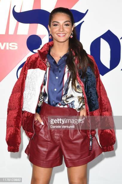 Elisa Maino attends the Fall 2019 Tommy x Lewis Milan presentation during the Milan Fashion Week Spring/Summer 2020 on September 16, 2019 in Milan,...