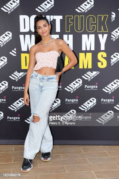 Elisa Maino is seen at the We Are Dreamers presentation during the Milan Men's Fashion Week Spring/Summer 2021/22 on June 20, 2021 in Milan, Italy.