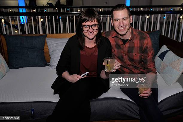 Elisa Mason and Brian Bennett attend the Snooze Bar Tour KickOff presented by Casper at 3330 Cady's Alley on May 13 2015 in Washington DC