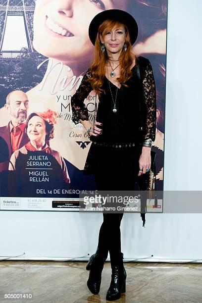 Elisa Matilla attends 'Ninette Y Un Senor de Murcia' premiere at Fernan Gomez Centro Cultural de la Villa on January 14 2016 in Madrid Spain