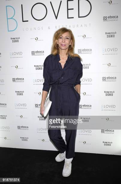 Elisa Matilla attends the 'BLoved' restaurant opening party photocall at the Catalonia Hotel on February 15 2018 in Madrid Spain