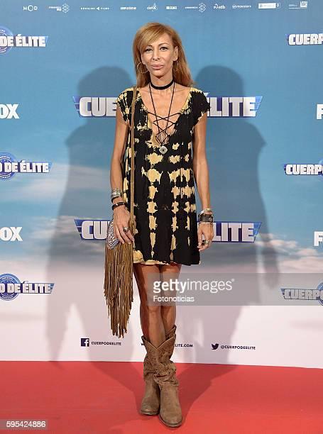 Elisa Matilla attends the 'Cuerpo de Elite' premiere at Capitol cinema on August 25 2016 in Madrid Spain