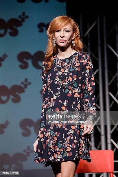 Elisa Matilla attends the presentation of 'Sofocos Plus' at La Latina theatre on January 19 2016 in Madrid Spain