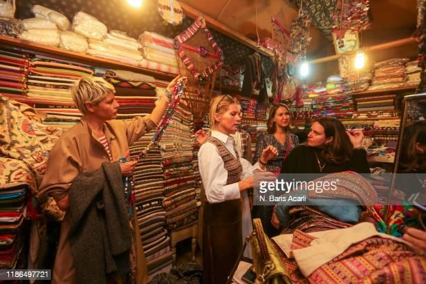 Elisa Nalin Alexandra Tolstoy Gunes Mutlu Mavituncalilar and Yasemin Sadikoglu attend Grand Bazaar Shoping tour on November 01 2019 in Istanbul Turkey