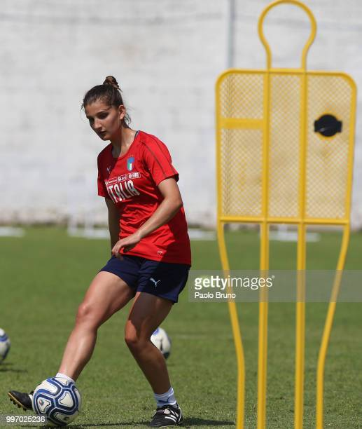 Elisa Polli of Italy in action during the Italy women U19 photocall and training session on July 12 2018 in Formia Italy