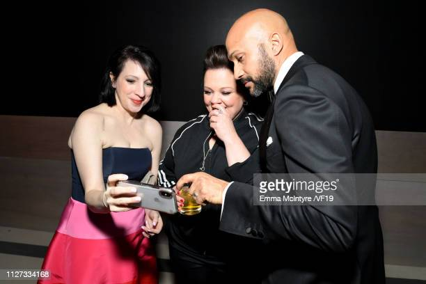 Elisa Pugliese Melissa McCarthy and KeeganMichael Key attend the 2019 Vanity Fair Oscar Party hosted by Radhika Jones at Wallis Annenberg Center for...
