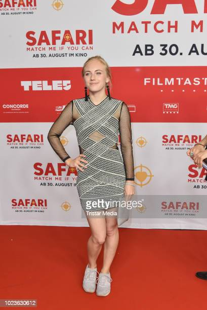 Elisa Schlott attends the 'Safari - Match Me If You Can' premiere on August 25, 2018 in Berlin, Germany.
