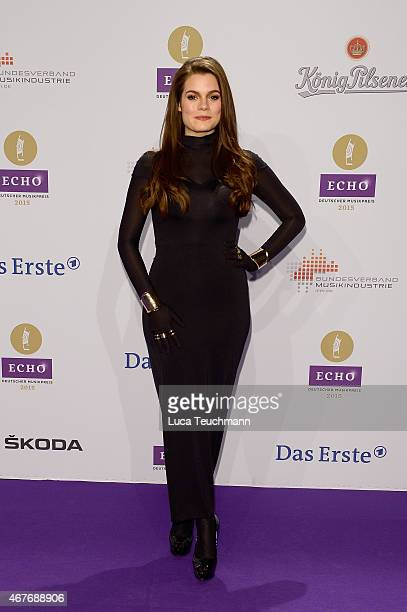 Elisa Schmidt attends the Echo Award 2015 Red Carpet Arrivals on March 26 2015 in Berlin Germany