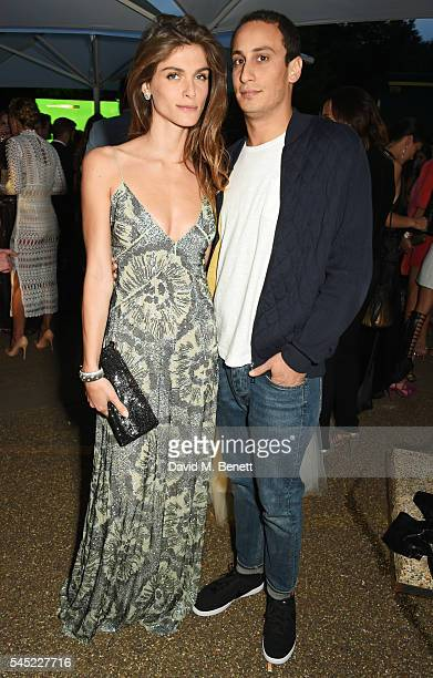 Elisa Sednaoui and Alex Dellal attend The Serpentine Summer Party cohosted by Tommy Hilfiger on July 6 2016 in London England