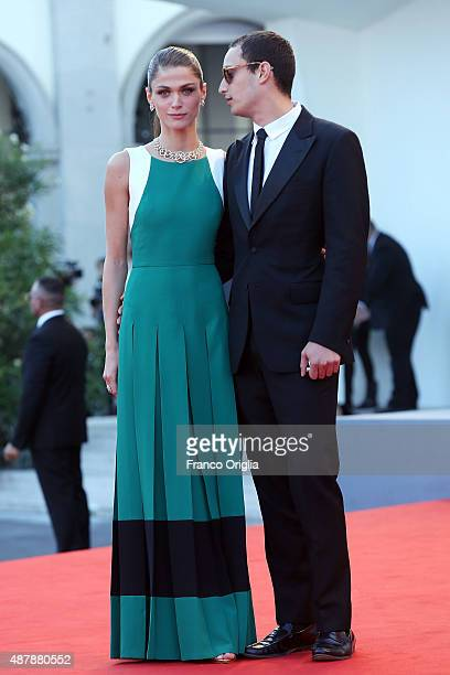 Elisa Sednaoui and Alexander Dellal attend the closing ceremony and premiere of 'Lao Pao Er' during the 72nd Venice Film Festival on September 12...