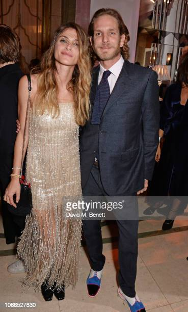 Elisa Sednaoui and Andrea Casiraghi attend the Claridge's Zodiac Party hosted by Diane von Furstenberg Edward Enninful to celebrate the Claridge's...