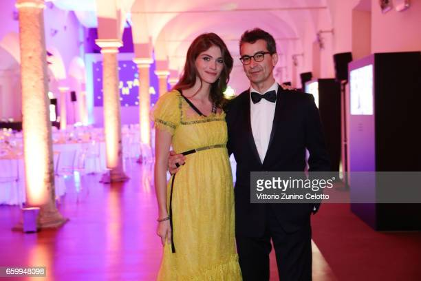 Elisa Sednaoui and Federico Marchetti attend Elisa Sednaoui Foundation and Yoox Net a Porter Event on March 28 2017 in Milan Italy