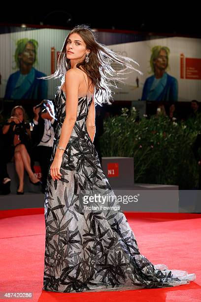 Elisa Sednaoui attends a premiere for 'De Palma' And 'JaegerLeCoultre Glory to the Filmmaker 2015 Award' during the 72nd Venice Film Festival at Sala...