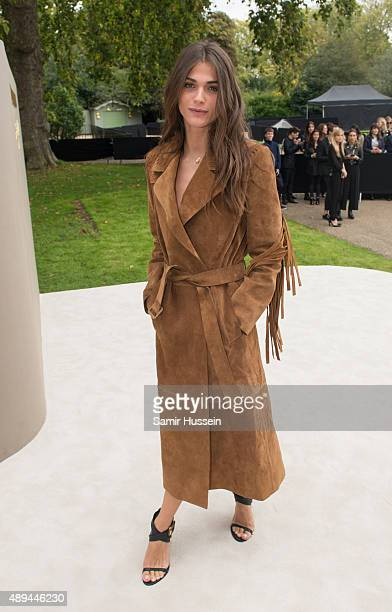 Elisa Sednaoui attends the Burberry Prorsum show during London Fashion Week Spring/Summer 2016/17 on September 21 2015 in London England