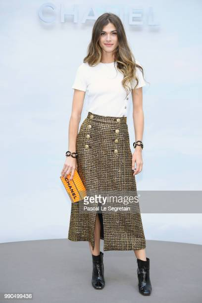 Elisa Sednaoui attends the Chanel Haute Couture Fall Winter 2018/2019 show as part of Paris Fashion Week on July 3, 2018 in Paris, France.
