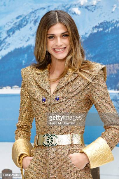 Elisa Sednaoui attends the Chanel show as part of the Paris Fashion Week Womenswear Fall/Winter 2019/2020 on March 05 2019 in Paris France