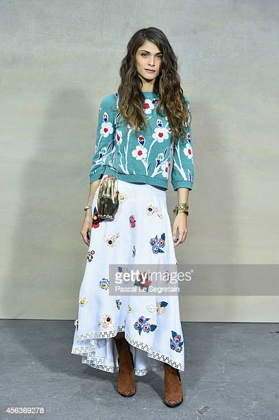 Elisa Sednaoui attends the Chanel show as part of the Paris Fashion Week Womenswear Spring/Summer 2015 on September 30 2014 in Paris France