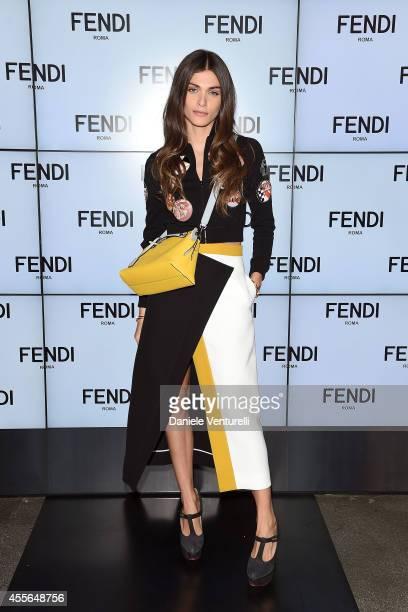 Elisa Sednaoui attends the Fendi show as part of Milan Fashion Week Womenswear Spring/Summer 2015 on September 18 2014 in Milan Italy
