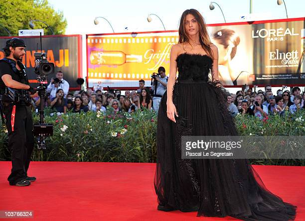 Elisa Sednaoui attends the Opening Ceremony and 'Black Swan' premiere during the 67th Venice Film Festival at the Sala Grande Palazzo Del Cinema on...