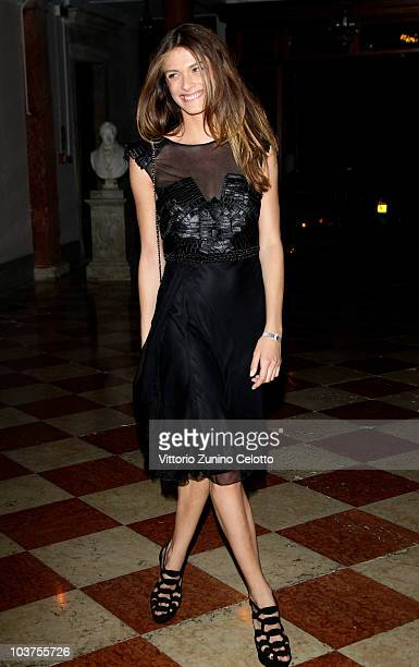 Elisa Sednaoui attends the Uomo Vogue Hosts Dinner For Quentin Tarantino during the 67th Venice International Film Festival on August 31 2010 in...